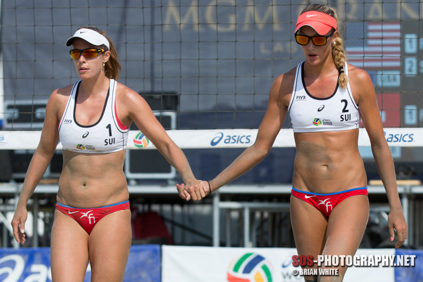 Isabelle Forrer and Anouk Vergé-Dépré at 2015 FIVB Long Beach Grand Slam