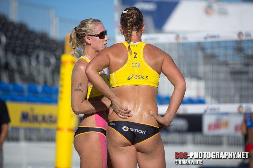 Karla Borger & Britta Buthe at 2014 FIVB Long Beach Grand Slam
