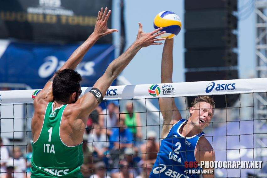 Casey Patterson and Paolo Nicolai at 2013 FIVB Long Beach Grand Slam