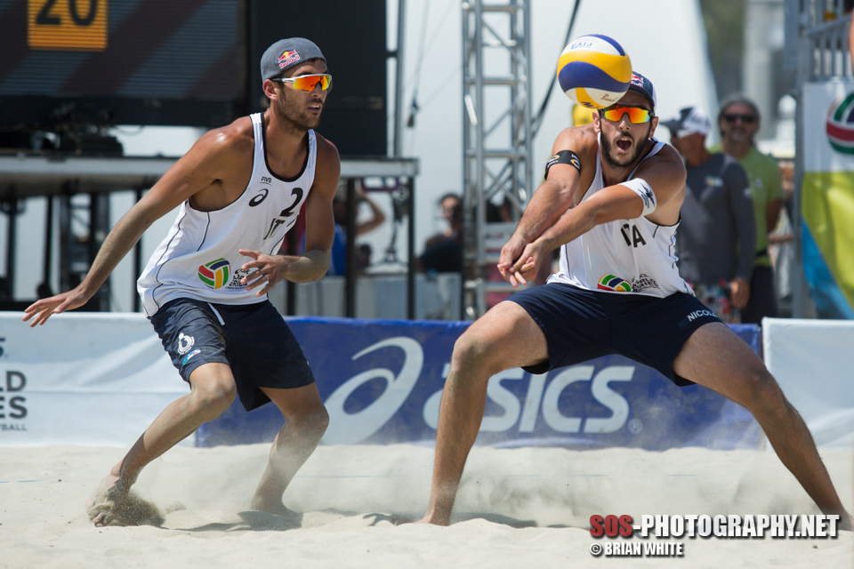 Paolo Nicolai and Daniele Lupo at 2015 FIVB Long Beach Grand Slam