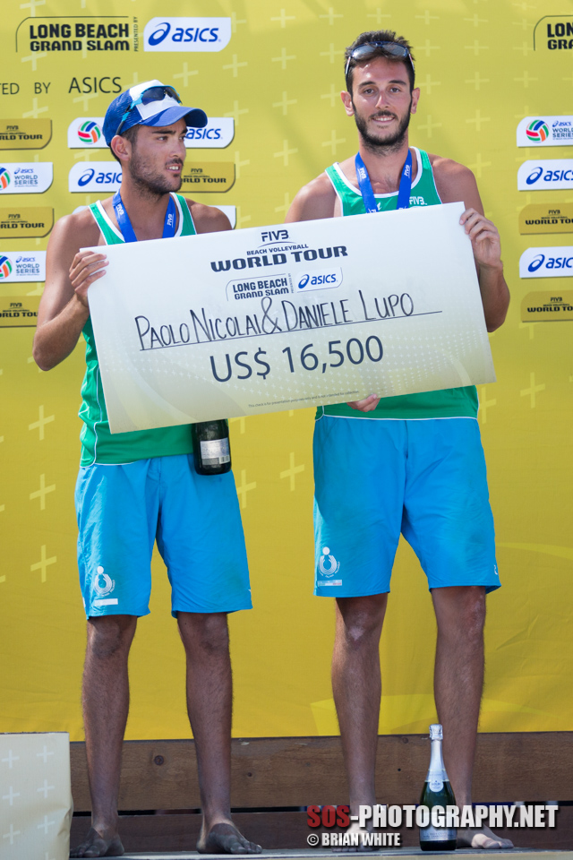 Paolo Nicolai and Daniele Lupo win bronze at 2013 FIVB Long Beach Grand Slam