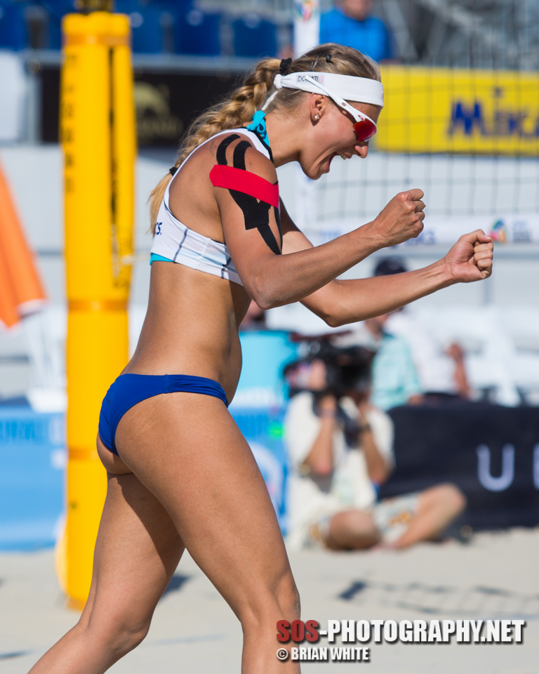 Dominika Nestarcova at 2013 FIVB Long Beach Grand Slam