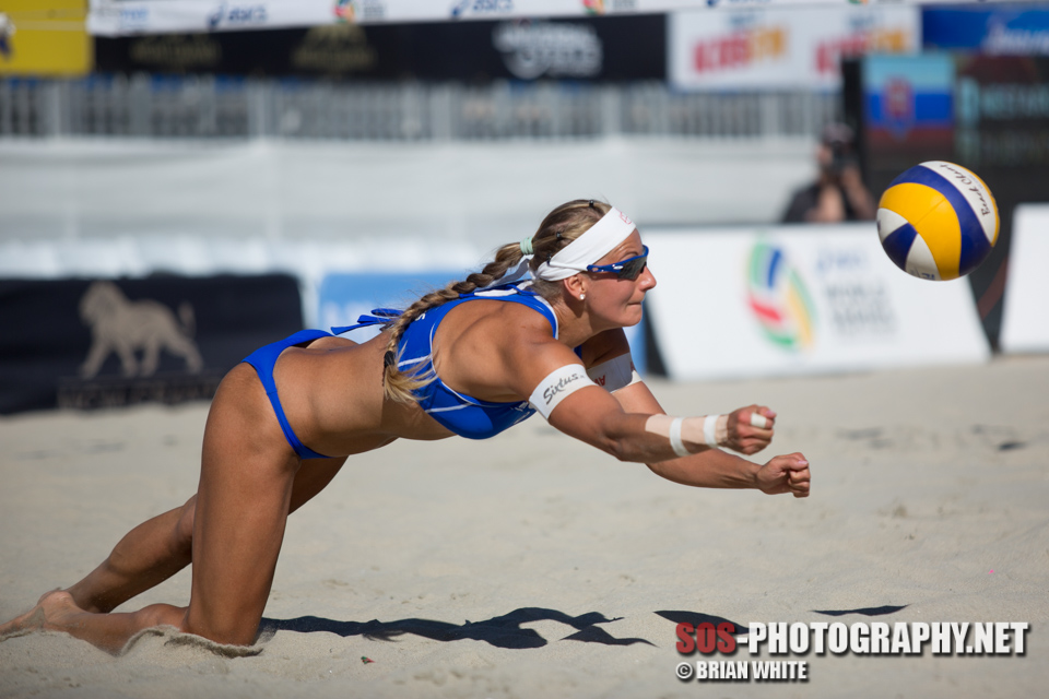 Dominika Nestarcova at 2014 FIVB Long Beach Grand Slam