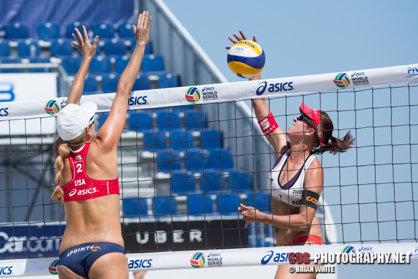 Isabelle Forrer and Jennifer Kessy at 2013 FIVB Long Beach Grand Slam