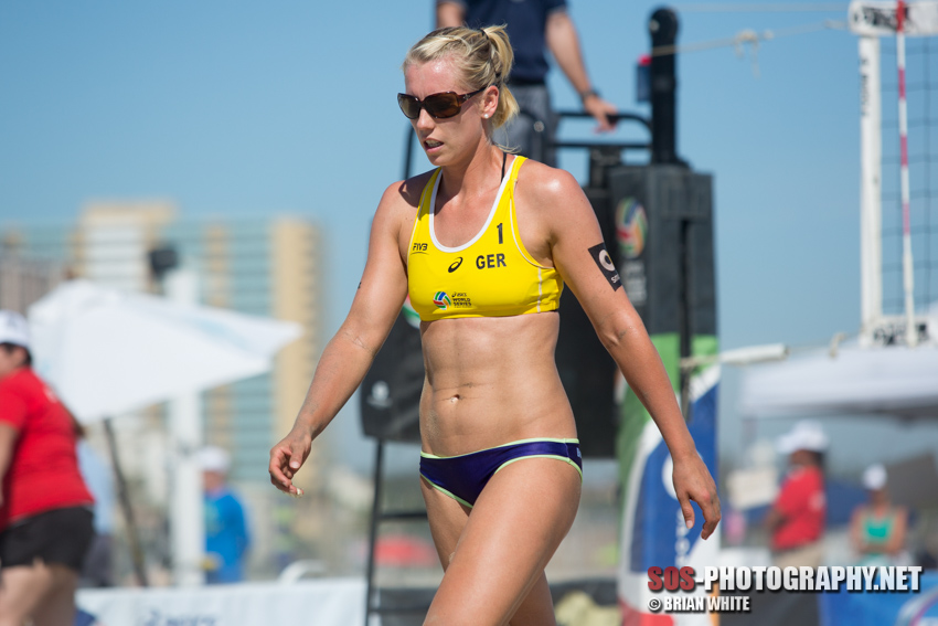 Karla Borger at 2014 FIVB Long Beach Grand Slam