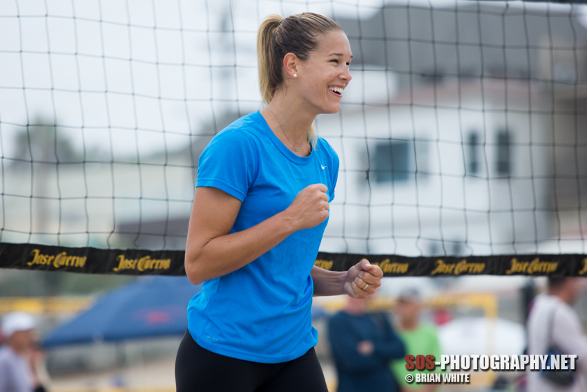 Morgan (Beck) Miller at the 2013 Manhattan Beach Open