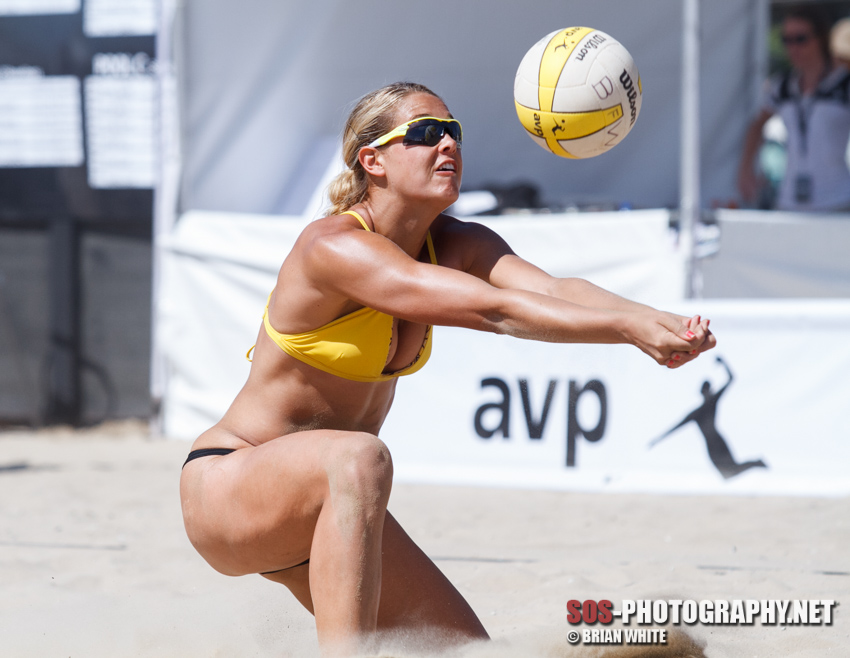 Morgan (Beck) Miller at the 2012 AVP Championships Santa Barbara