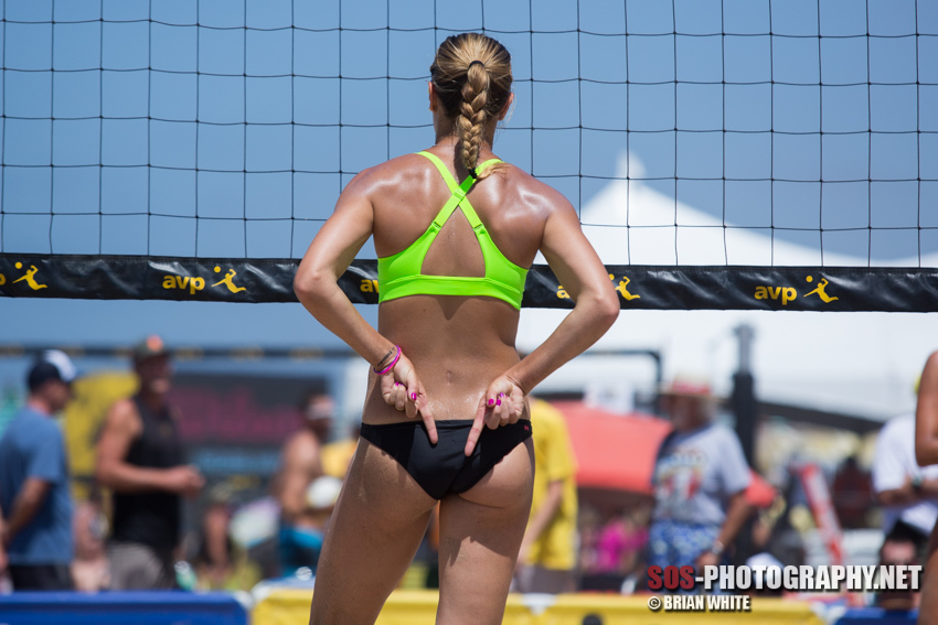 Morgan (Beck) Miller at 2014 AVP Manhattan Beach