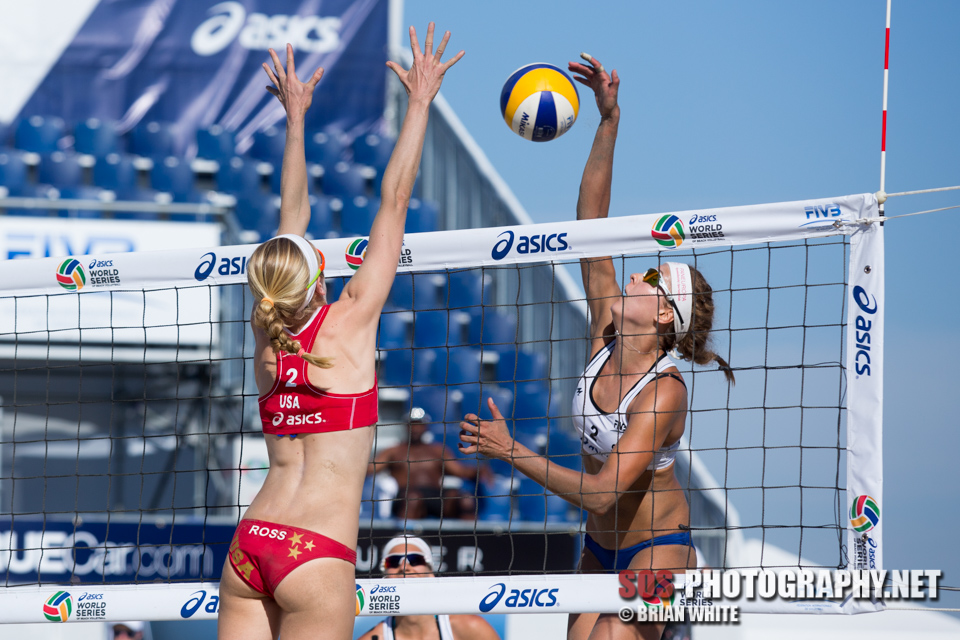 Natalia Dubovcova and Summer Ross at 2013 FIVB Long Beach Grand Slam