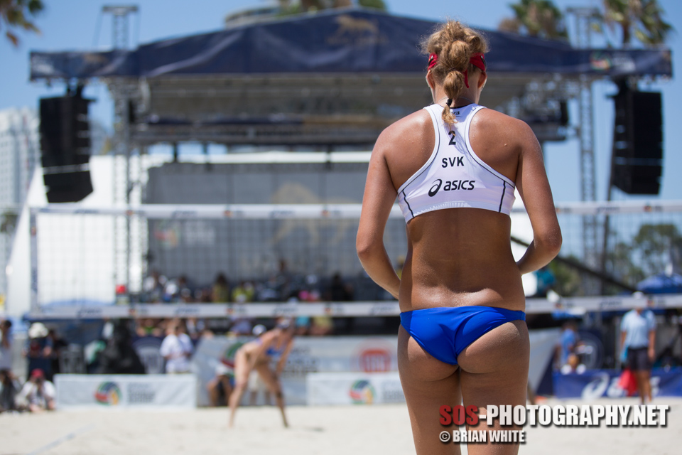 Natalia Dubovcova at 2014 FIVB Long Beach Grand Slam