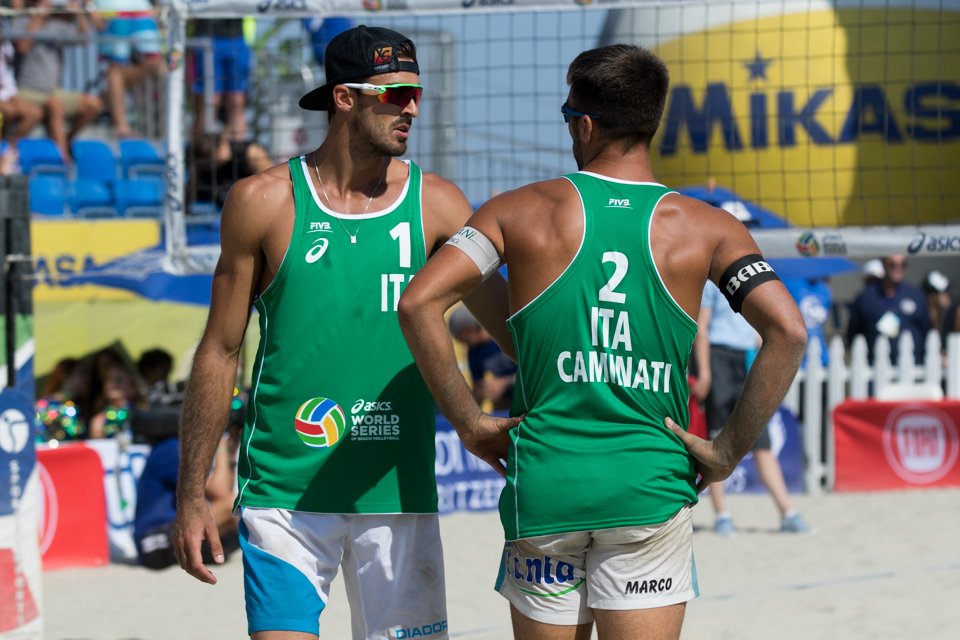 Alex Ranghieri and Marco Caminati at 2016 FIVB Long Beach Grand Slam