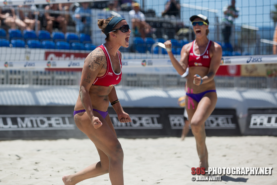 Brooke Sweat and Lauren Fendrick at 2014 FIVB Long Beach Grand Slam