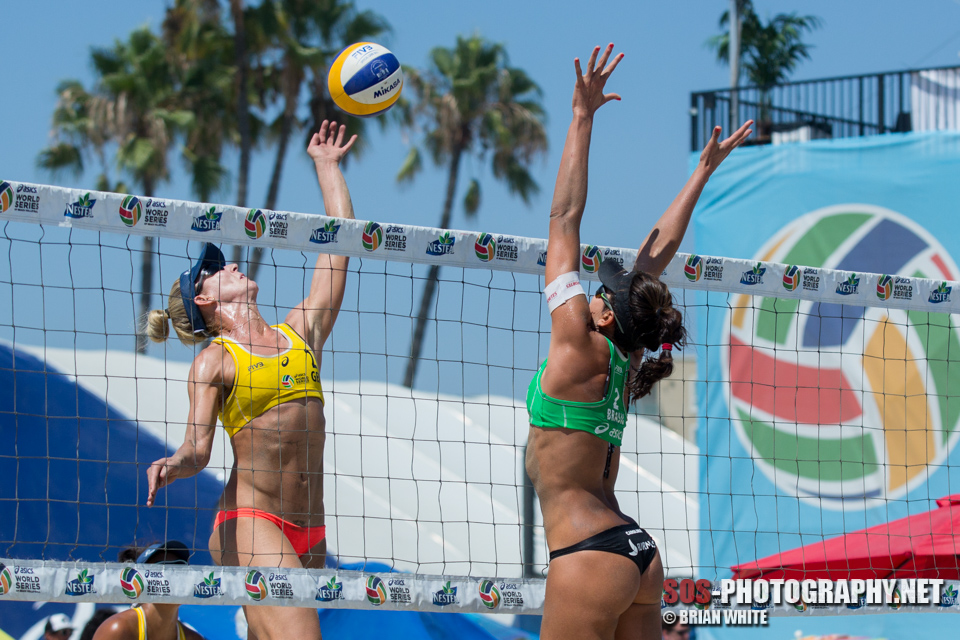 Louise Bawden and Carolina Solberg Salgado at 2015 FIVB Long Beach Grand Slam