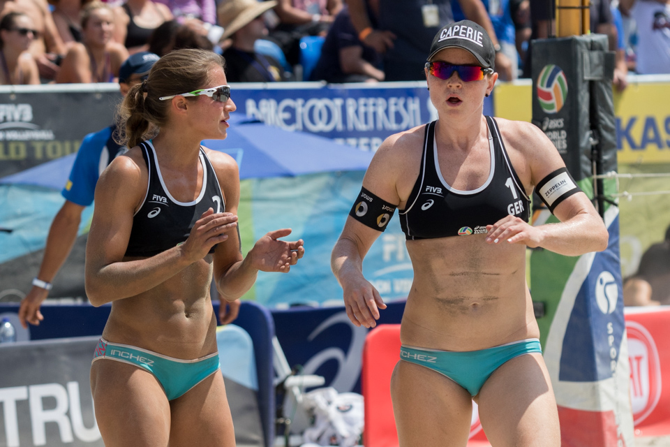 Chantal Laboureur and Julia Sude at 2016 FIVB Long Beach Grand Slam