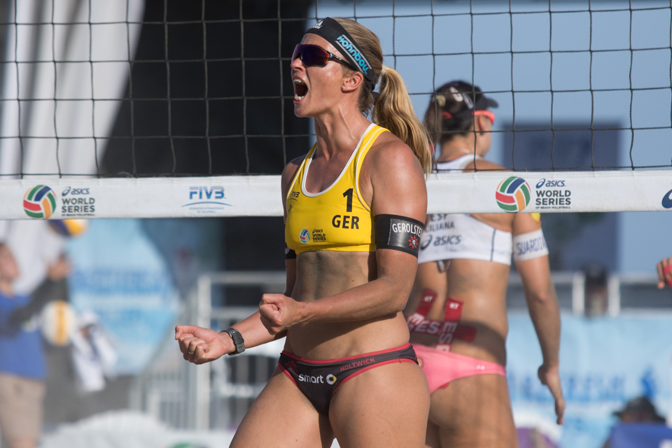 Katrin Holtwick at 2016 FIVB Long Beach Grand Slam