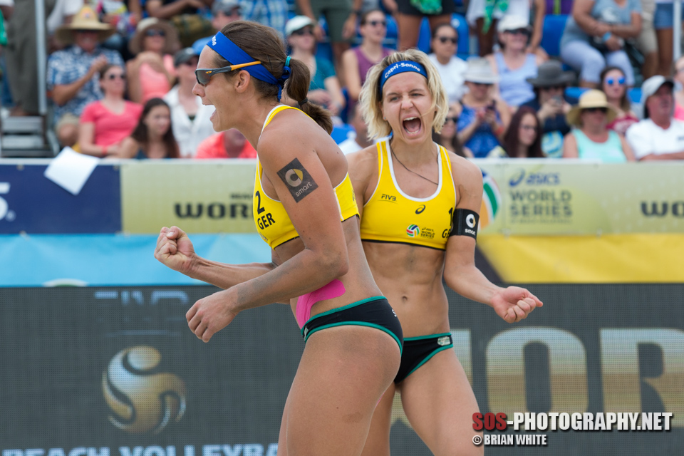 Laura Ludwig and Kira Walkenhorst at 2015 FIVB Long Beach Grand Slam