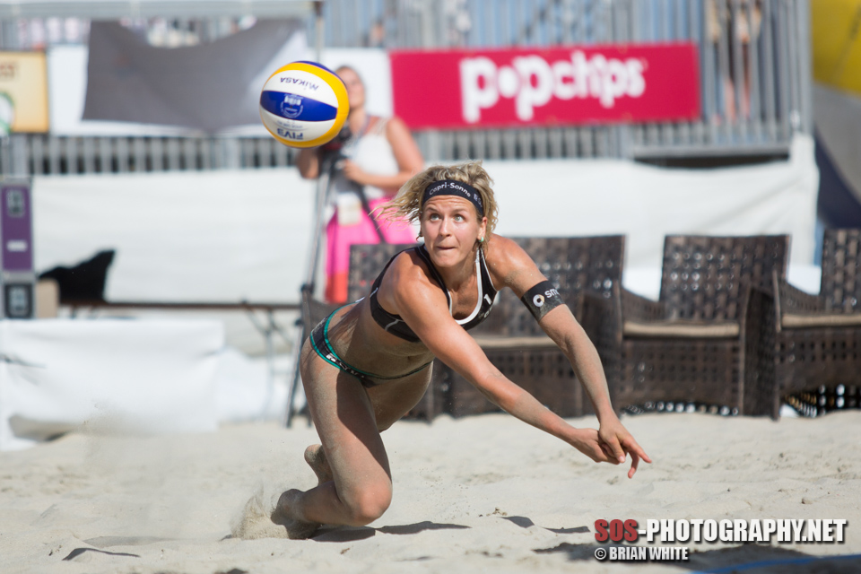Laura Ludwig at 2014 FIVB Long Beach Grand Slam