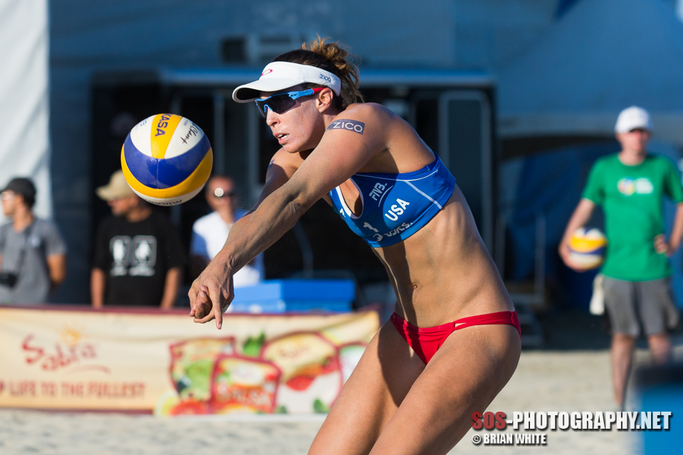 Lauren Fendrick at 2013 FIVB Long Beach Grand Slam