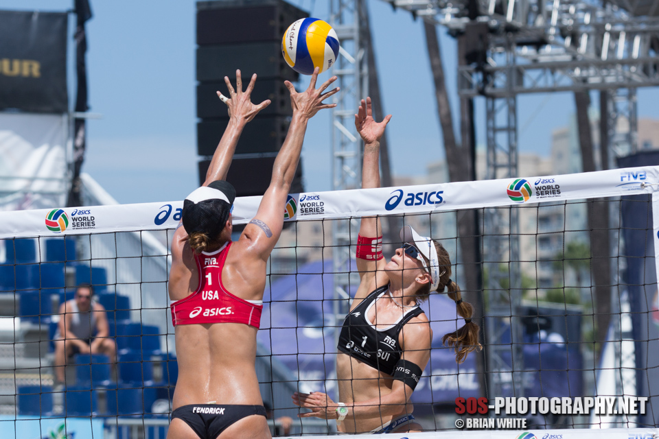 Nadine Zumkehr and Lauren Fendrick (USA) at 2013 FIVB Long Beach Grand Slam