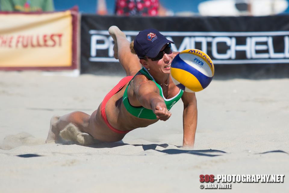 Louise Bawden at 2013 FIVB Long Beach Grand Slam - Women's Round of 24 (July 24, 2013)