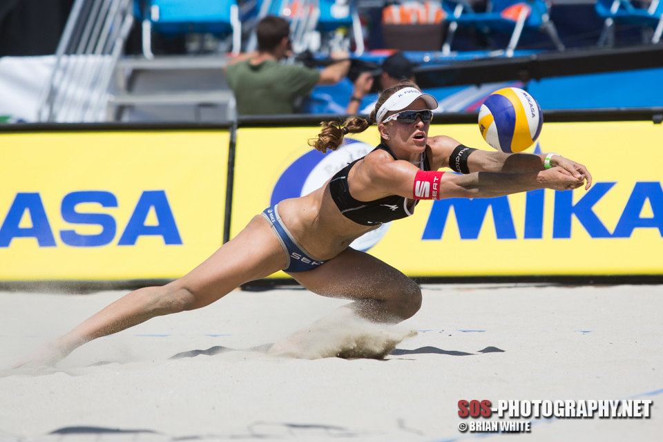 Nadine Zumkehr at 2013 FIVB Long Beach Grand Slam
