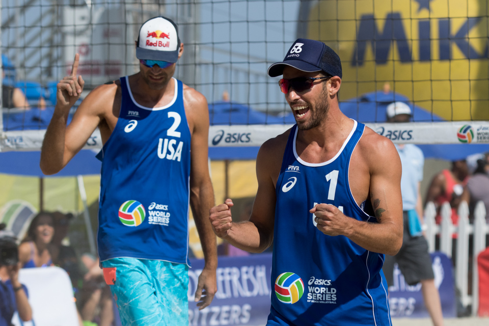 Nick Lucena and Phil Dalhausser at 2016 FIVB Long Beach Grand Slam