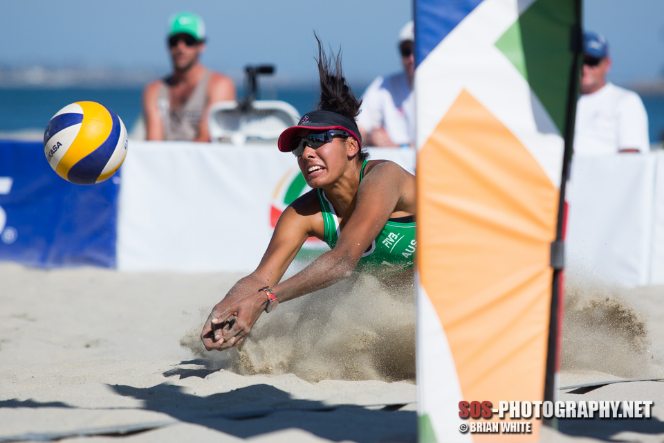 Taliqua Clancy at 2013 FIVB Long Beach Grand Slam - Women's Round of 24 (July 24, 2013)