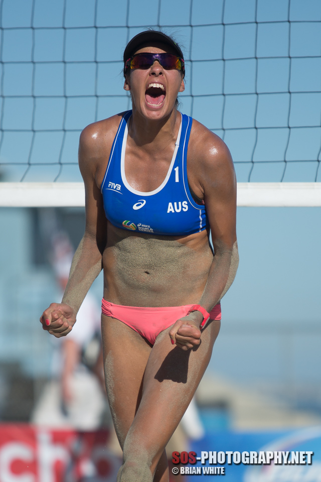 Taliqua Clancy at 2014 FIVB Long Beach Grand Slam