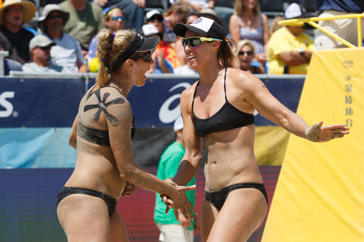 U.S. Olympians April Ross and Lauren Fendrick