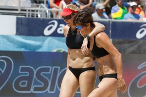 Kerri Walsh Jennings and Nicole Branagh